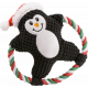 Pet Plush Chew Toy Sound Cartoon Cotton Rope Christmas
